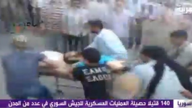 Crackdown on pro-democracy protesters in Hama