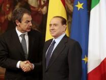 Silvio Berlusconi, Jose Luis Rodriguez Zapatero