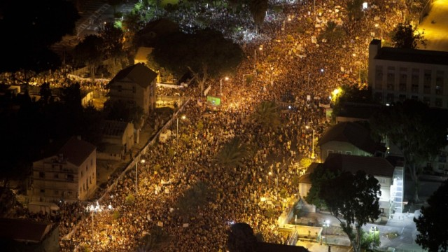 Israel Massendemonstration in Israel