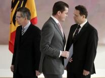 Karl-Theodor zu Guttenberg, Thomas de Maiziere, Hans-Peter Friedrich