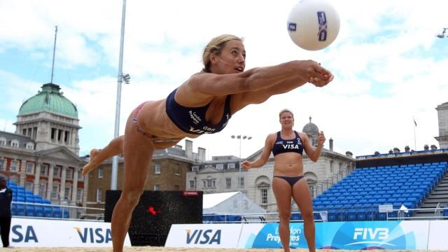 *** BESTPIX *** LOCOG Test Events for London 2012 - VISA FIVB Beach Volleyball International