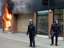 Disturbances across Britain continue