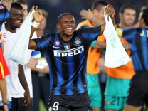Samuel Eto'o was named African Footballer of the Year a record fo