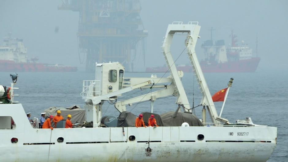 Ölpest Chinas Kampf gegen die Ölpest