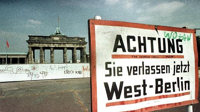 Berliner Mauer vor dem Brandenburger Tor, 1984
