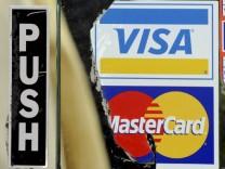 Visa-Reklameschriften in New York