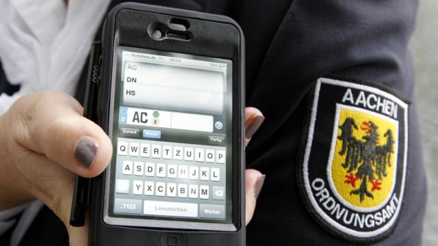 Mit dem Smartphone dem Parksuender 'auf der Spur'