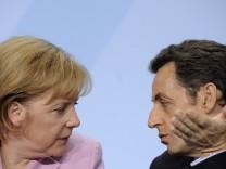 Merkel und Sarkozy muessen wieder ran