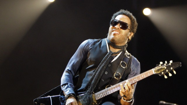 U.S. singer Lenny Kravitz performs during his 'Love Revolution' concert in Budapest