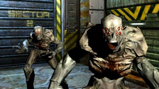 SCENE FROM ACTIVISIONS DOOM 3 VIDEO GAME