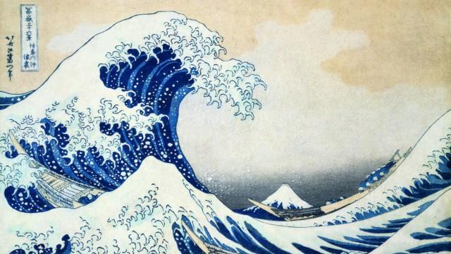 Tsunami Vor Zehn Jahren Die Große Welle Vor Kanagawa Panorama