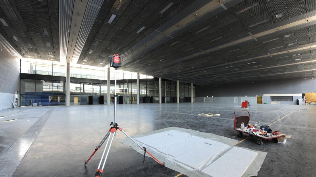 Kleine Olympiahalle vor der Eröffnung - Die eigentliche ...