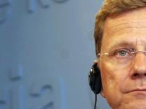 Außenminister in der Kritik: Guido Westerwelle