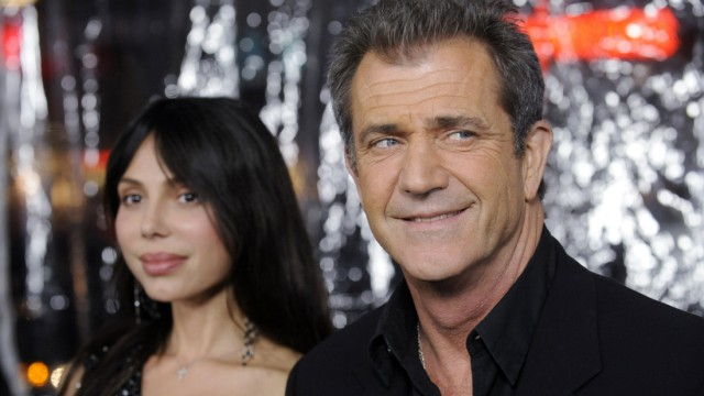 File photo shows Mel Gibson and Oksana Grigorieva attending the premiere of 'Edge of Darkness' in Los Angeles