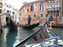 Venedig Kanäle Gondeln