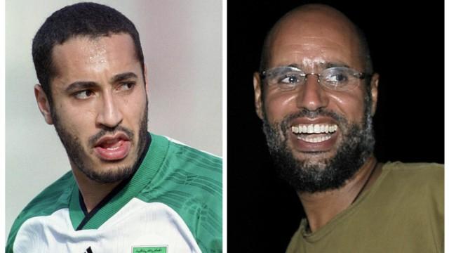 Combo of Muammar Gaddafi's sons Saadi and Saif al-Islam