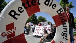 Verbeamtete Lehrer streiken in Schleswig-Holstein