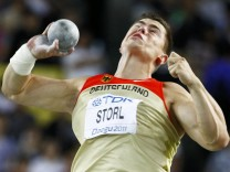 David Storl of Germany competes in the men's shot put final at the IAAF World Championships in Daegu