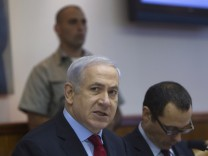 Israel's Prime Minister Netanyahu attends the weekly cabinet meet