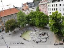 Brunnen am Rindermarkt in München, 2011