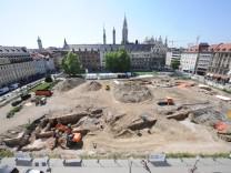 Grabungsarbeiten am Münchner Marienhof, 2011
