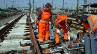 Bauarbeiten Hauptbahnhof in Erfurt
