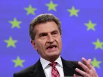 Oettinger: Deutsche Strompreise gefährlich hoch