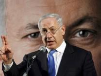 Vor Richtungswahl in Israel - Benjamin Netanjahu