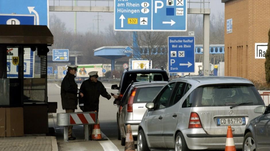 Grenzkontrollen an Schweizer Grenze
