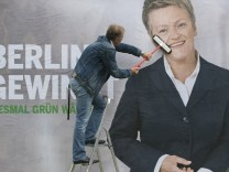 Plakatpräsentation der Grünen