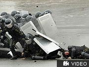 dpa, Kirgistan, Putsch, Polizei