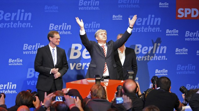 Wahl zum Berliner Abgeordnetenhaus: Wahlparty SPD