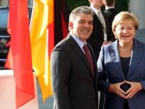 Bundeskanzlerin Angela Merkel empfängt Gül