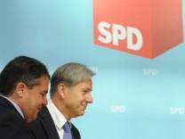 SPD Pressebegegnung - Wowereit - Gabriel