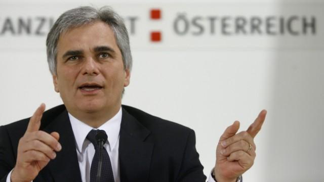 Sieht sich Untreue-Vorwürfen ausgesetzt: Österreichs Regierungschef Werner Faymann (SPÖ)