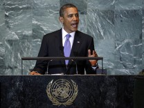 U.S. President Obama addresses the 66th United Nations General Assembly at U.N. headquarters in New York