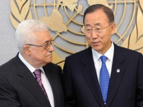 President Mahmoud Abbas meets in new York City with UN Secretary-