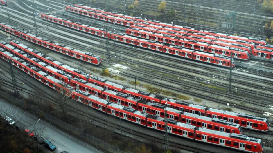 S-Bahn Züge in München, 2008,