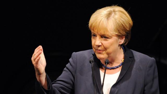 Empfang zum 70. Geburtstag von Stoiber -  Angela Merkel