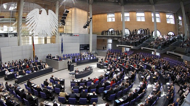 General view of the Bundestag lower house of parliament during its session on euro-zone rescue in Berlin