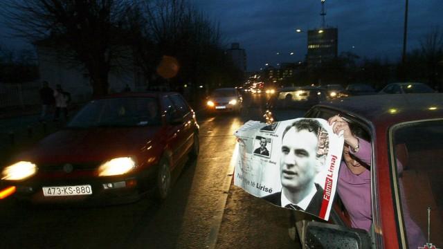 Kosovo Albanians celebrate acquittal of former rebel Limaj