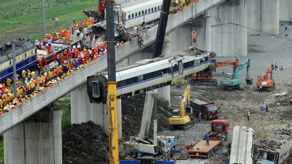 China Hochgeschwindigkeitszug Wenzhou Kollision