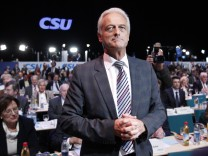 German Transport Minister Ramsauer reacts after his election for vice leader of CSU during party convention in Nuremberg