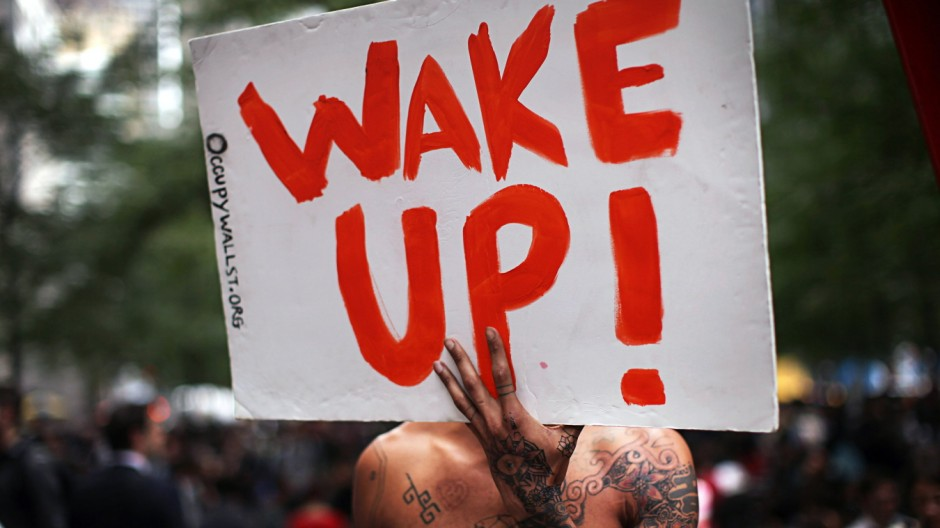 Wall Street Protestors Rally Against Police Brutality