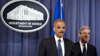 FBI Director Robert Mueller and Attorney General Eric Holder anno