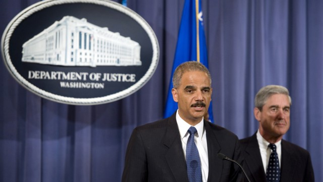 FBI Director Robert Mueller and Attorney General Eric Holder anno