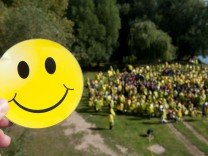 Smiley-Weltrekordversuch gescheitert
