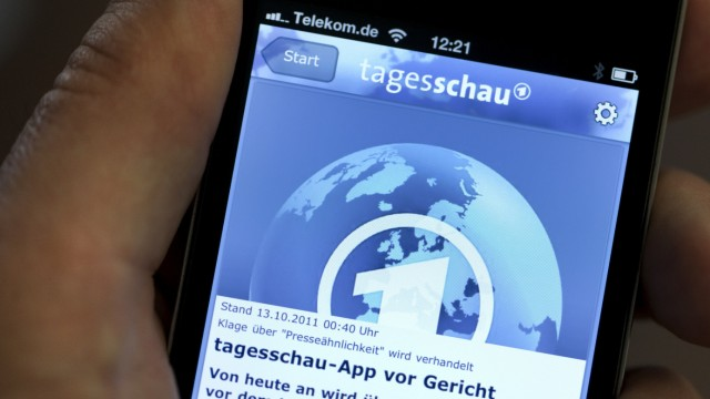 Klage gegen 'Tagesschau'-App vor Gericht