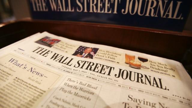 """Wall Street Journal """"Wall Street Journal"""" in Erklärungsnöten"""