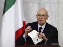 Italiens Präsident Napolitano